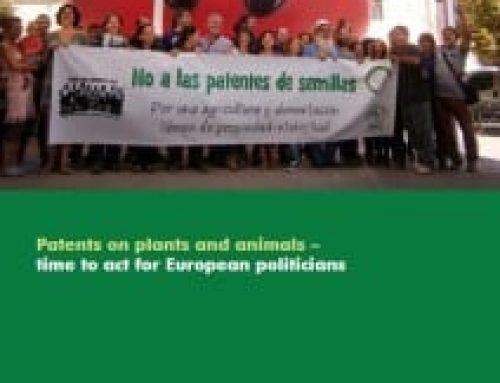 Patentes en plantas y animales, hora de que los políticos europeos actúen